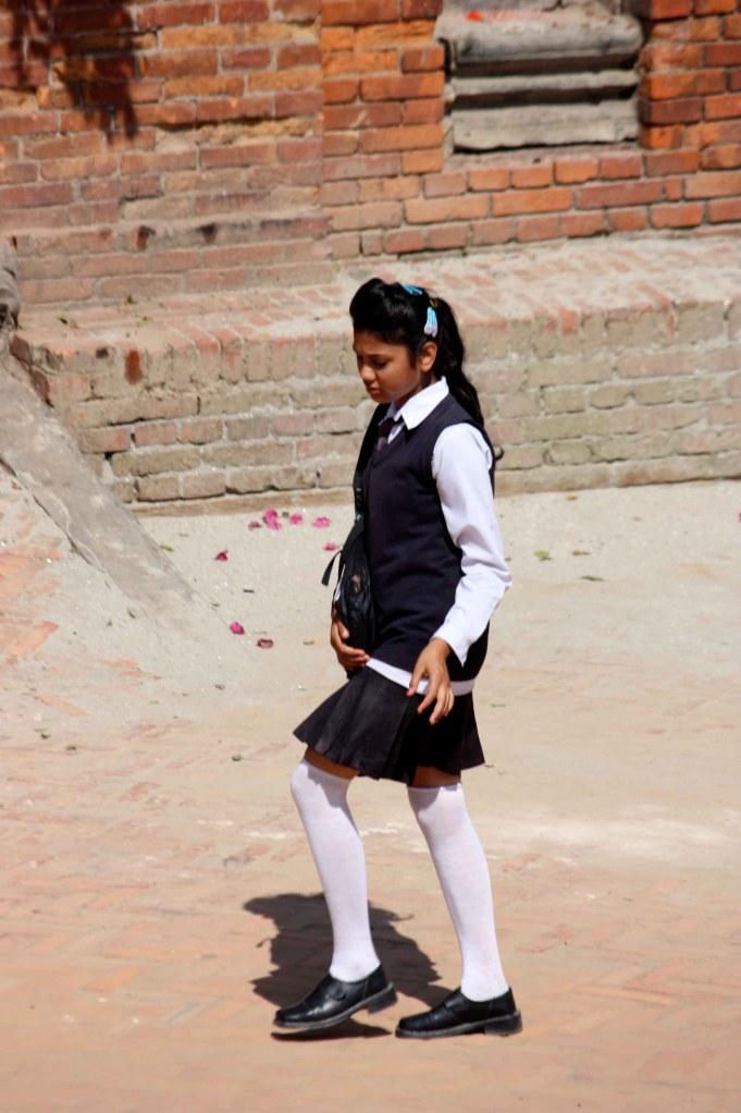 School girl in Nepal